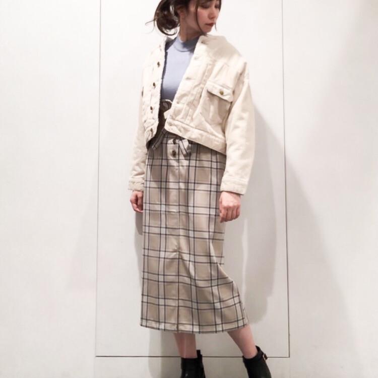 ★チェックナロースカート★