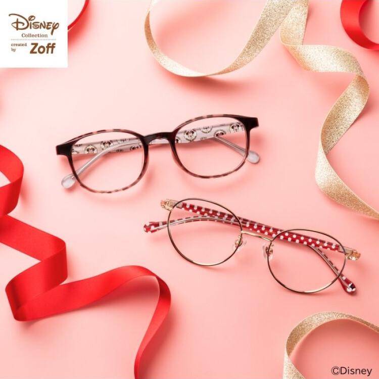 ミニーデザインのメガネで春の装い