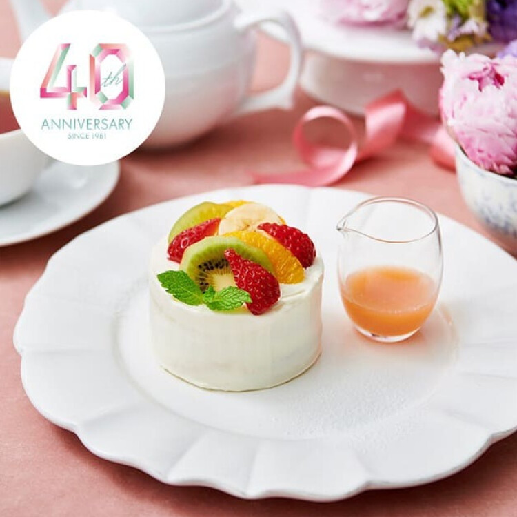 9/10 アフタヌーンティー40周年記念ケーキが登場